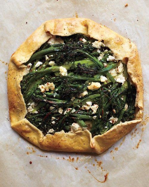 Broccolini and Feta Galette | Recipe | Feta, Tarts and Kale