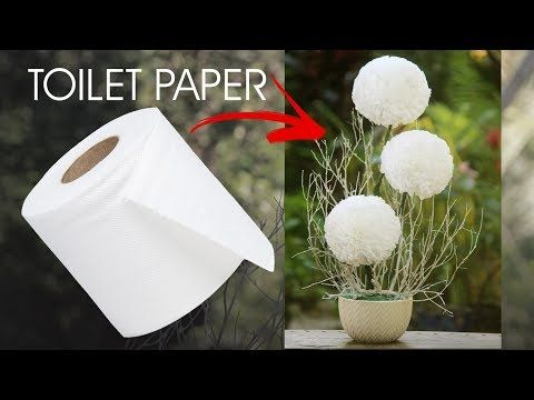 Round Toilet Paper Flower - YouTube