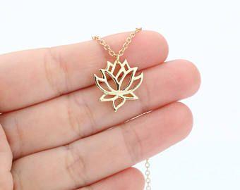 Capas collar de Lotus, capa capas collar delicado, delicada joyería todos los días, mínimo Simple collar fino collar moderno FSABAP