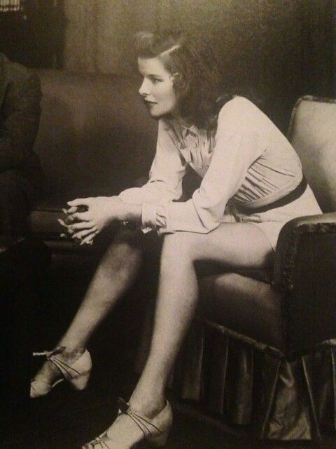 The icon, Katharine Hepburn - in a shorts outfit that looks a lot like a romper!