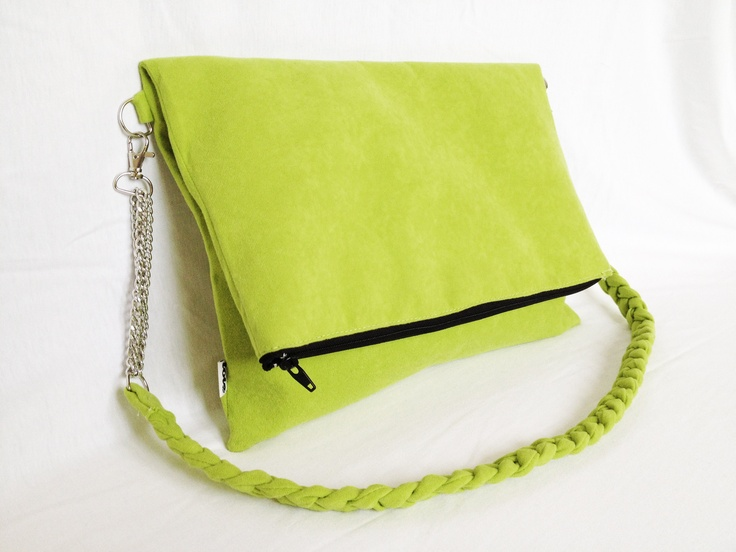 CityFelt eco suede clutch bag lime http://totostyle.pl/