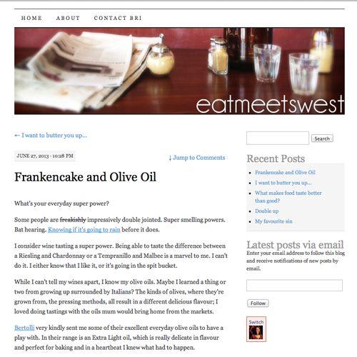 Franken cake and olive oil #yum #dessert #sweets