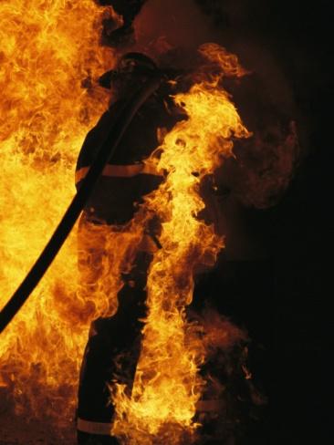 The Sewanee Volunteer Fire Department Practices Firefighting