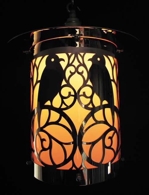 CFA Voysey Copper Birds Lantern