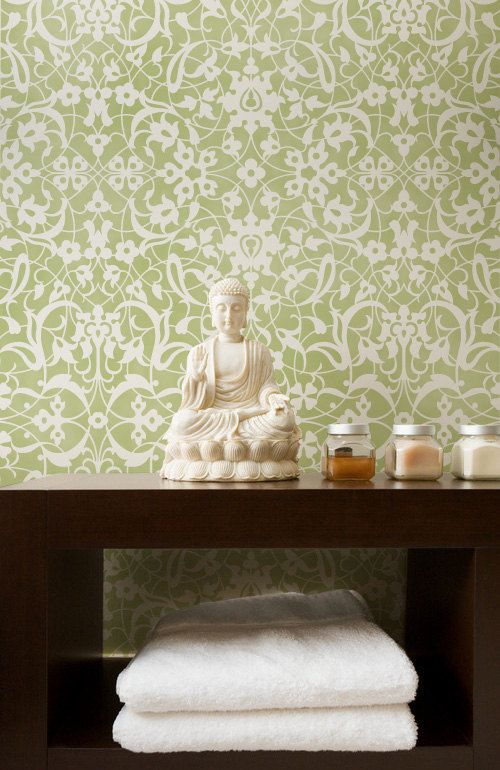 58 best Wall stencil=cheaper than wallpaper images on Pinterest | Wall stenciling, Moroccan wall ...