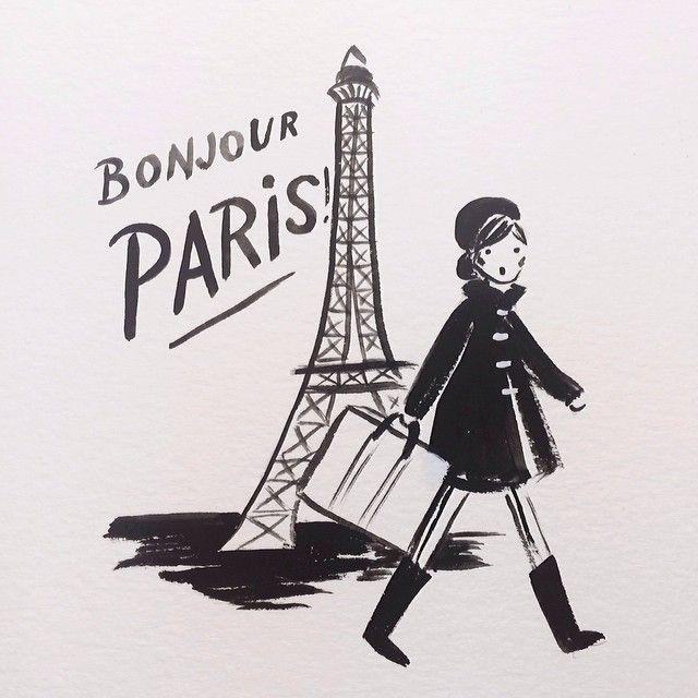 bonjour paris | #illustration by Anna Rifle Bond