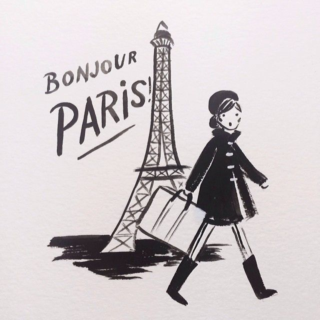 bonjour paris | #illustration by Anna Rifle Bond