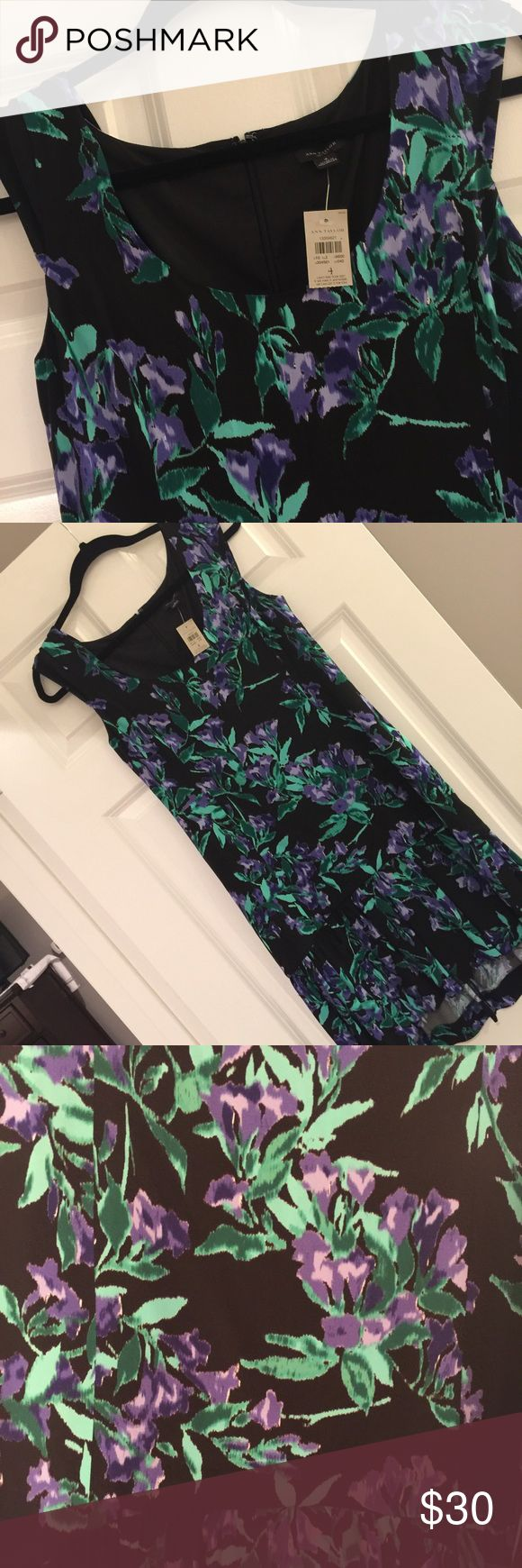 LOFT Summer Dress Super cute and great colors. Has give at the bottom for hippier ladies. A must have for this coming up summer!! Smoke free home. No trades. LOFT Dresses