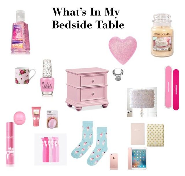 """What's In My Bedside Table"" by angelsommer on Polyvore featuring interior, interiors, interior design, home, home decor, interior decorating, Royal Albert, Soap & Glory, River Island and Eos"