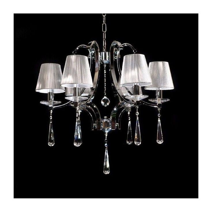 Żyrandol kryształowy VENISIA 6 chrom Lumina Deco FILM