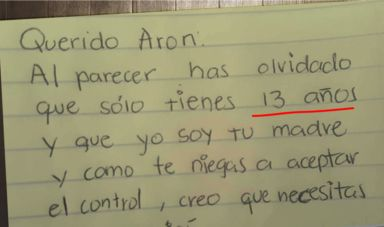Madre se cansa de su hijo desobediente, su increíble carta es una sensación en Internet