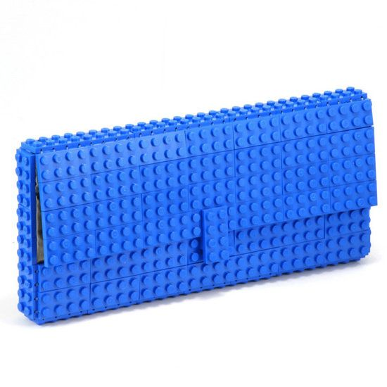 For all your geeky girls. Lego brick clutch bag made completely out of legos.: Geekchic, Brick Clutch, Style, Clutches, Blue Lego, Lego Brick, Geek Chic