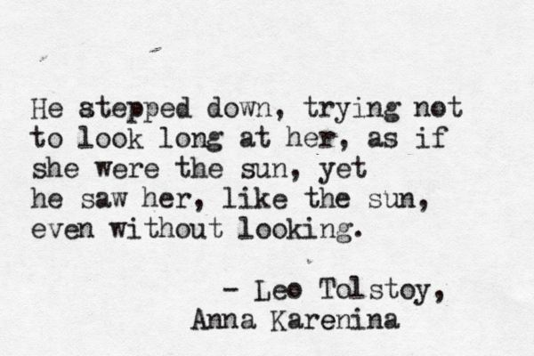 """Admiration, Tolstoy 