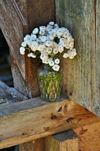 Country flower arrangement.