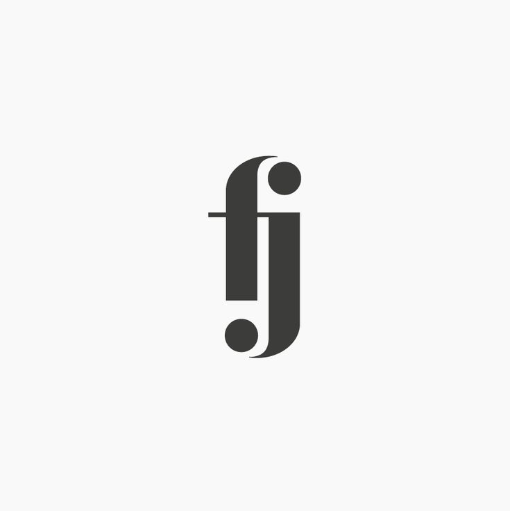 Design by http://ottocliman.it FJ, Monogram, logo, design, graphic, letter, typography, fj logo, experiment, simple, minimal, design, brand, idea, mark, symbol, logotype, logogram, f, j, elegant, classy, classic, fashion, style, vintage