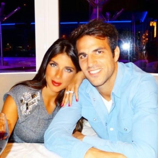 Cesc Fàbregas and Daniella Semaan