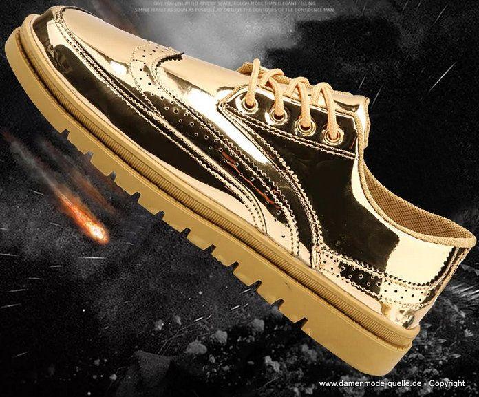 Britisch Style Schuhe 2020 in Gold bis Gr 46 in 2020