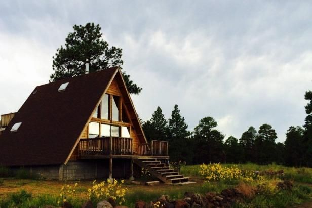 Flagstaff, ArizonaAbout an hour and a half south of the Grand Canyon, lies this beautiful A-frame cabin. With no phone, air conditioning, cable television and internet, this property allows guests to …