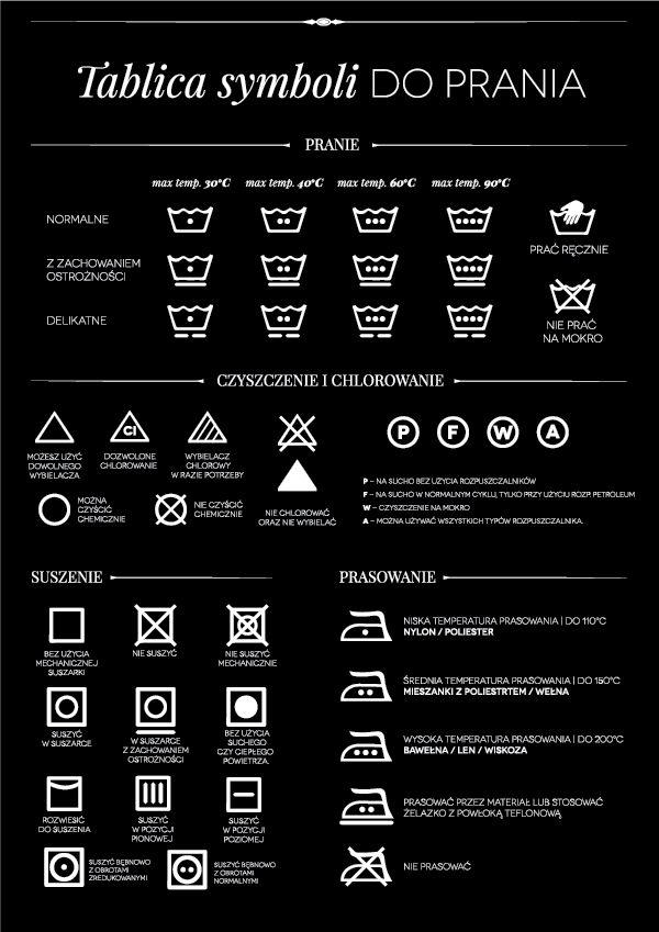 My Pink Plum!: [DIY wydrukuj] Tablica symboli do prania