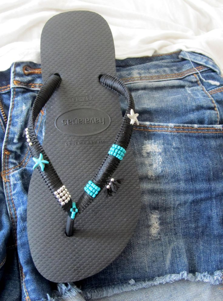 SALE Boho Style Black Flip Flops, Bohemian Chic Foot Jewelry, Hippie Chic Flat Shoes, Bohemian Beach Sandals, Your Perfect Foot Jewelry Tribal Style You can decorate your hands, ears, neck but also … your feet! These are an absolutely unique Must Have Flip Flops!!! The combination