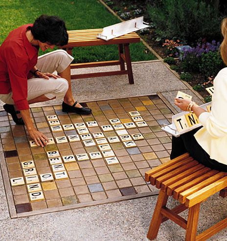 I love the idea of making a scrabble board out of tile. (Honestly I'd get more use out of it than a chess board, I think!)