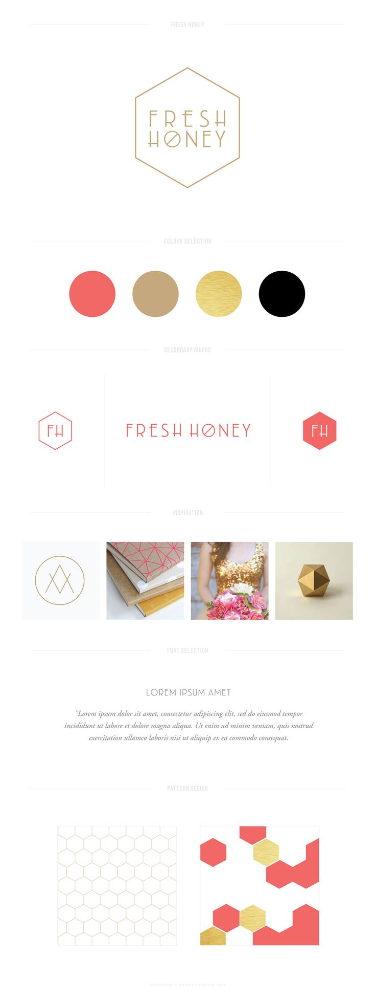 Brand design by Aviary Creative // Fresh Honey Distinctive brand design for small business