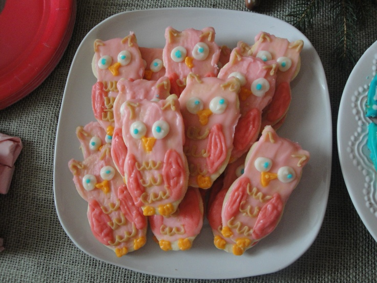 Fairy party: owl cookies
