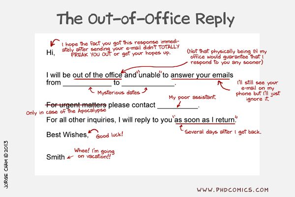 The Out-Of-Office Reply's True Meaning