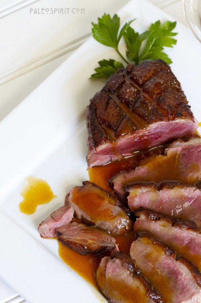 Crispy Duck Breast with Chipotle Orange Sauce. #paleo, #food, #recipes