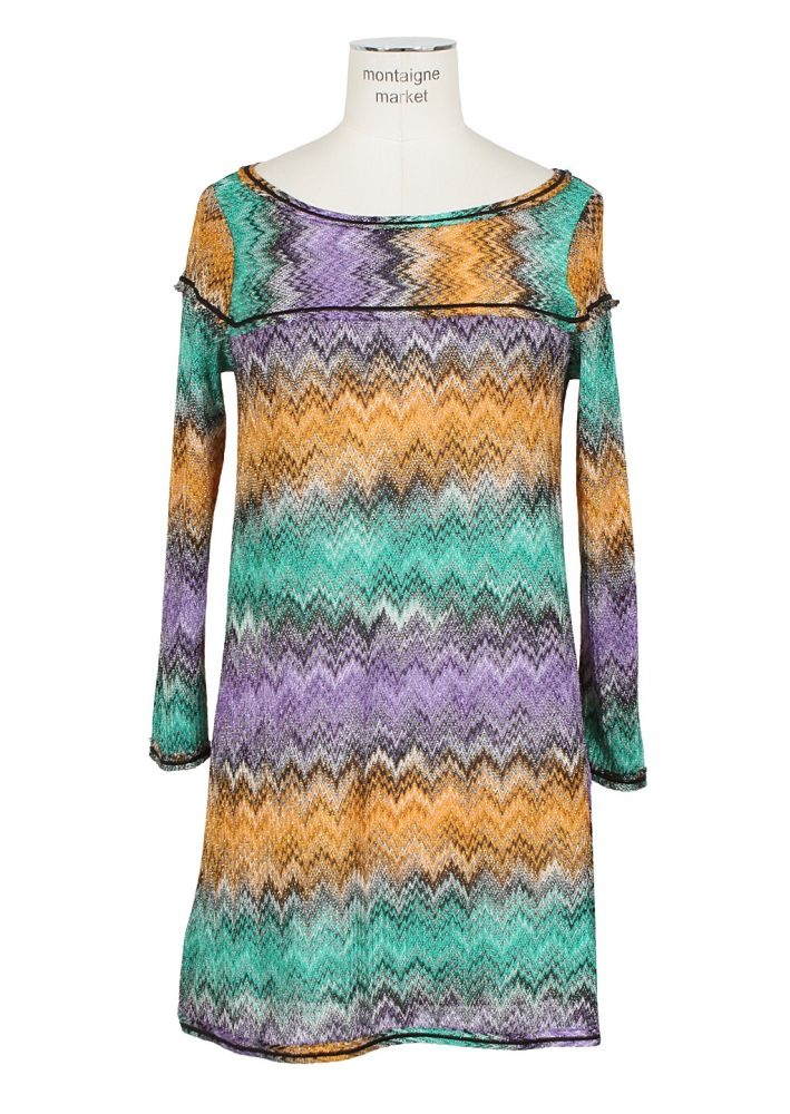 Missoni Mare Dress :: Missoni Mare multicolored zigzag dress   Montaigne Market
