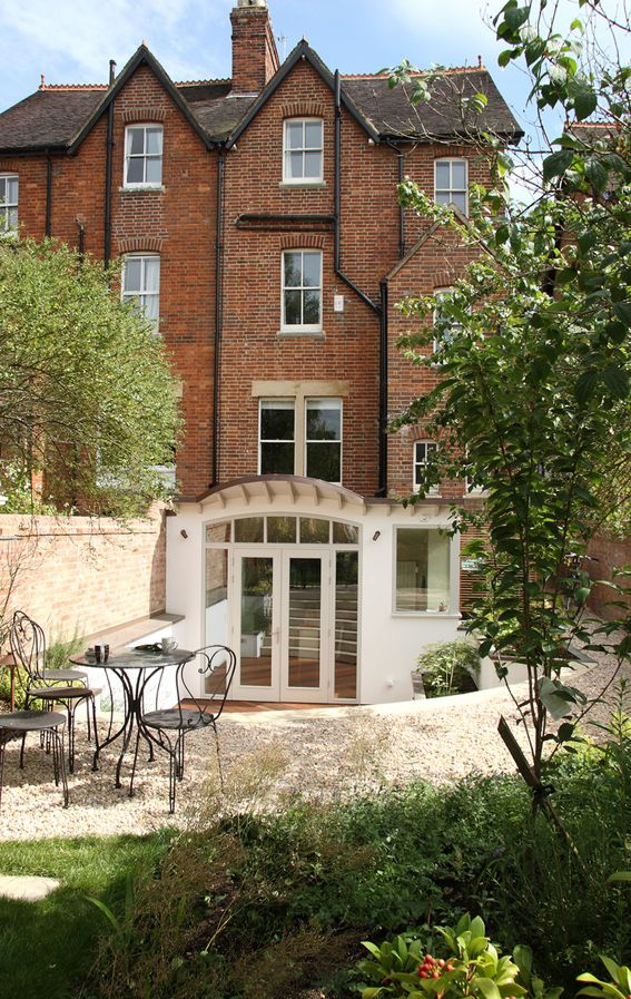 curved copper roof basement extension to oxford townhouse kitchen design garden design