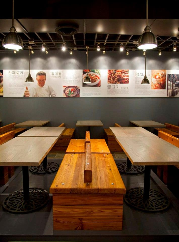Ajoomah's Apron is the first traditional Korean restaurant in Chicago Chinatown. Interior design- Keycocncept
