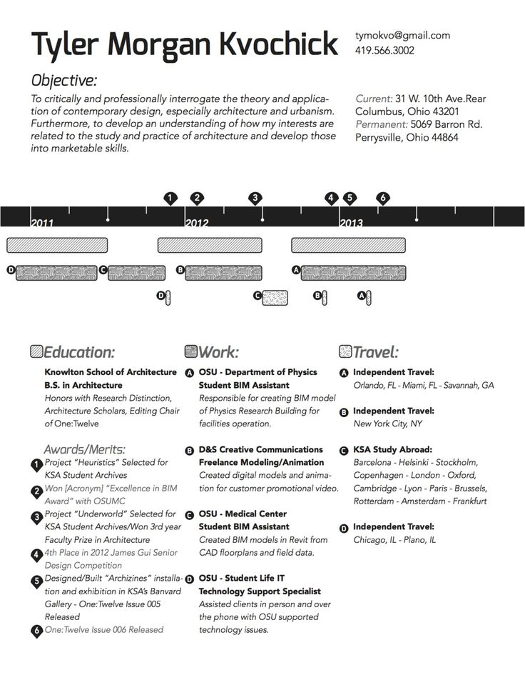 12 best My resumes to choose style images on Pinterest Resume - Architecture Student Resume