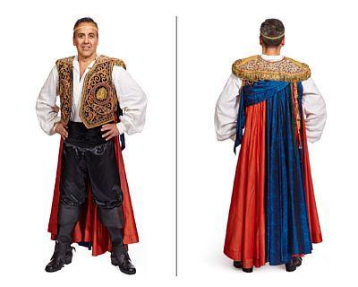 Costume: Duke of Mantua from Rigoletto, 1992   Arturo Chacon-Cruz / Dmytro Popov. Str. 50    Velvet and silk. Shirt and belly belt.