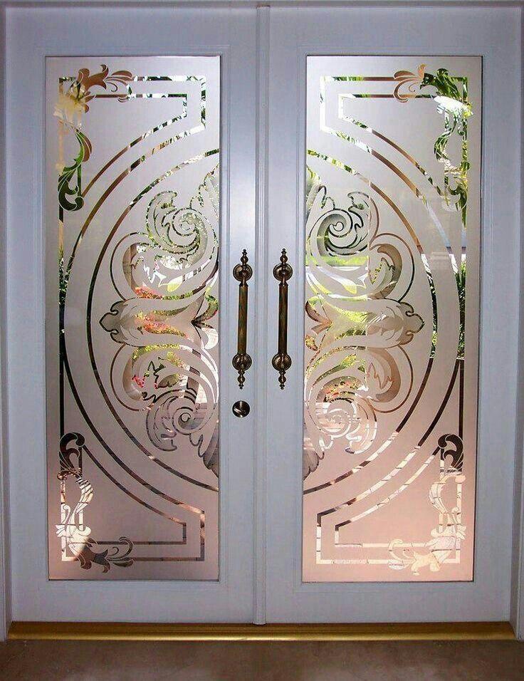 Pin By Luann Cherry On Eched Glass Doors Door Glass Design