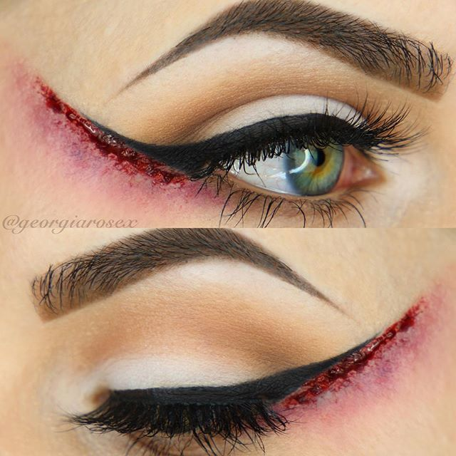 hairstylesbeauty: IG: georgiarosex | 21 Great Halloween Makeup Ideas- I feel like this could be made into a really cool costume with some kind of deeper meaning... Great special effects makeup!