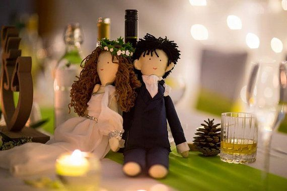Handmade custom wedding dolls bride and groom dolls by apacukababa .. Photo supplies