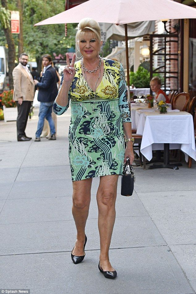 Suzy sunshine! Ivana Trump spent the last day of summer enjoying lunch in New York City's Upper East Side on Wednesday