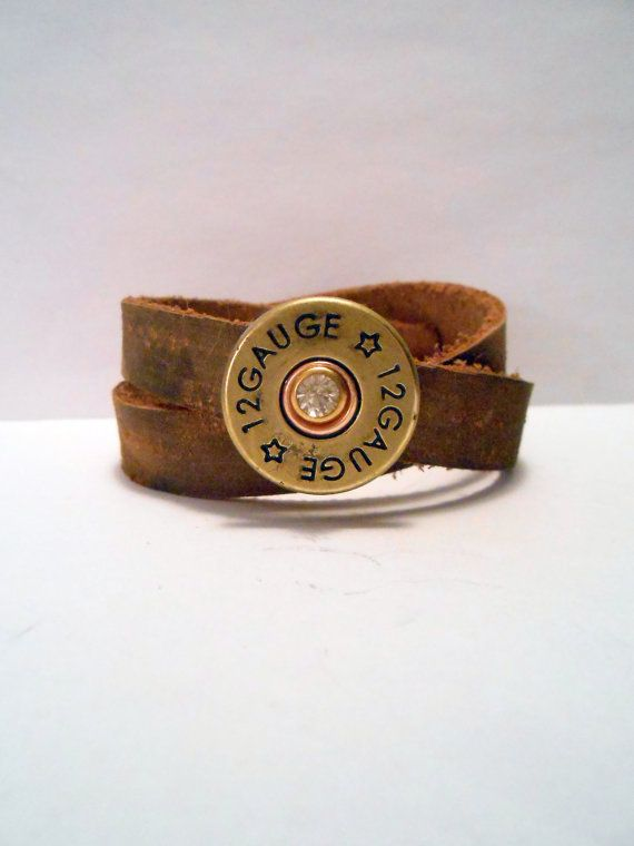 Shot gun Bullet, Shotgun Bullet, Cowgirl, Country Western Girl, Redneck Girl, Rustic, Country, Leather Wrap Cuff Bracelet Art on Etsy, $28.00