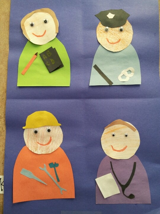 community helpers (teacher ,police,construction worker,nurse)