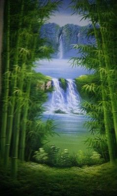 Get Bamboo Oil Painting at reasonable price. This hand-painted Chinese bamboo plants oil paintings on canvas artworks are created by our talented Chinese artists.