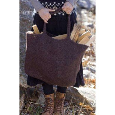 Free Pattern. Login required. Felted Eco-Tote in Tahki Yarns Donegal Tweed | Knitting Patterns | LoveKnitting