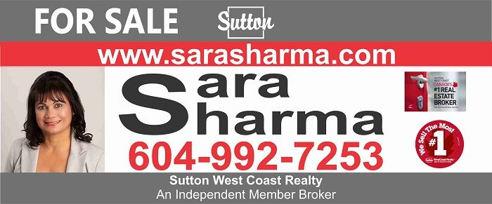 Sara Sharma is a Realtor at Sutton Group West Coast Realty. Sara started with an accounting background, and worked 15 years in that profession.