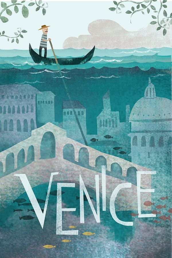 "Travel Poster ""VENICE"" on Behance by Belle Lee"