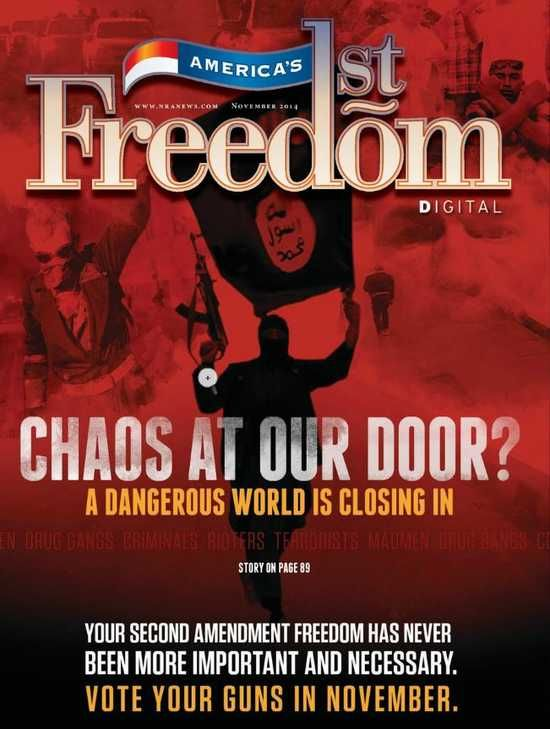 Channeling militia rhetoric, NRA magazine delivers conspiracy-riddled 'Vote Your Guns' issue