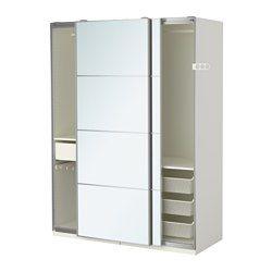 IKEA - PAX, Kleiderschrank, 150x66x236 cm, Schiebetürdämpfer, , Inklusive 10 Jahre Garantie. Mehr darüber in der Garantiebroschüre.Diese PAX/KOMPLEMENT Kombination lässt sich nach Wunsch und den häuslichen Gegebenheiten mit dem PAX Planer umgestalten.Schiebetüren sorgen für mehr Bewegungsfreiheit im Raum, da sie beim Öffnen weniger Platz erfordern.Stopper für langsames, geräuschloses Schließen der Türen.Die hierauf abgestimmte KOMPLEMENT Inneneinrichtung nutzt den Schrankraum…