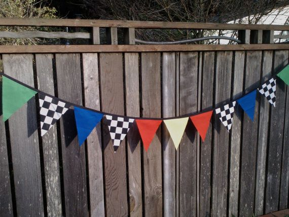 Racing Birthday Party Supplies | Bunting Flags Cars Theme Boys Birthday Decoration Race Car Flags ...