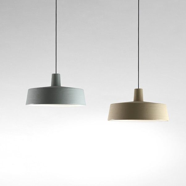 Marset - Soho suspension lamp in a new measure of 38 cm and new tones: sand and sky blue #suspension