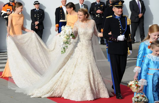 Countess Stephanie de Lannoy in her marriage to Grand Duke Guillaume of Luxembourg