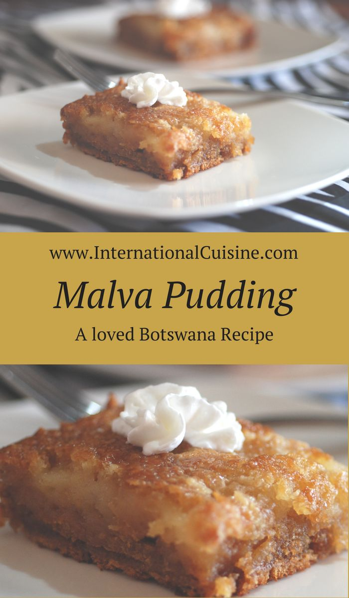 Malva pudding is actually more like a cake but it will be the most moist cake you have had. A beloved recipe in Botswana and popular throughout South African countries. Enjoy!